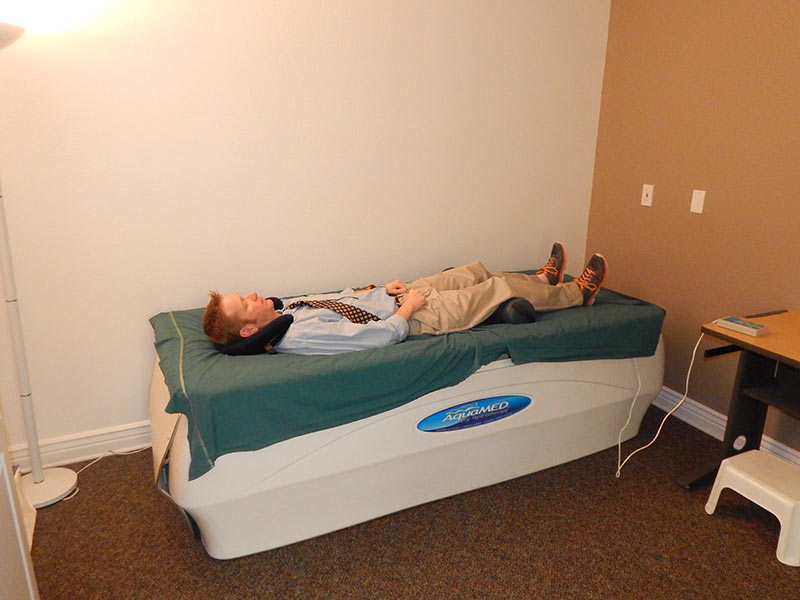Patient on Hydro Massage bed