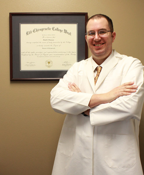 Dr. Webb with his credentials